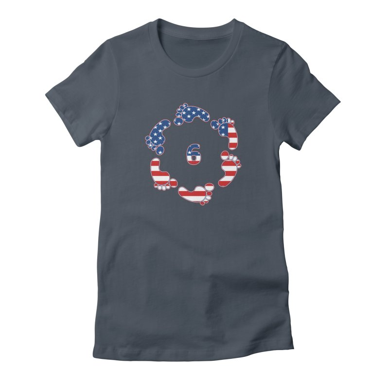 6 Feet USA Women's T-Shirt by iffopotamus