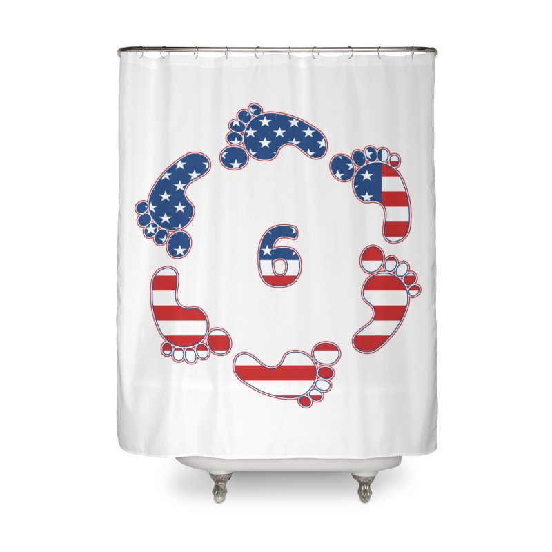 6 Feet USA Home Shower Curtain by iffopotamus