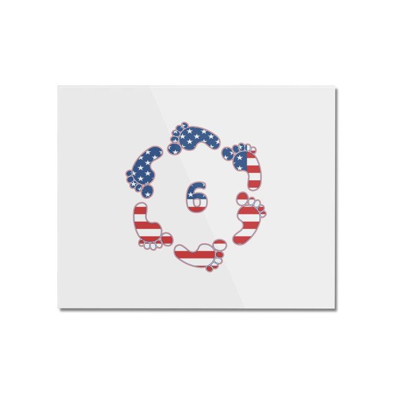6 Feet USA Home Mounted Acrylic Print by iffopotamus