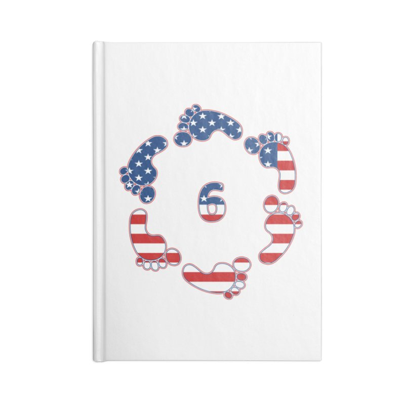 6 Feet USA Accessories Notebook by iffopotamus
