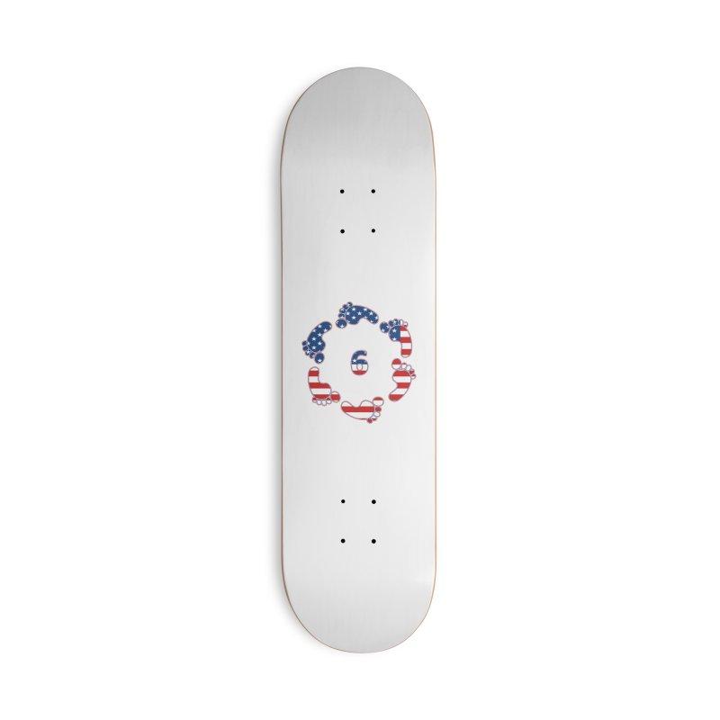 6 Feet USA Accessories Skateboard by iffopotamus