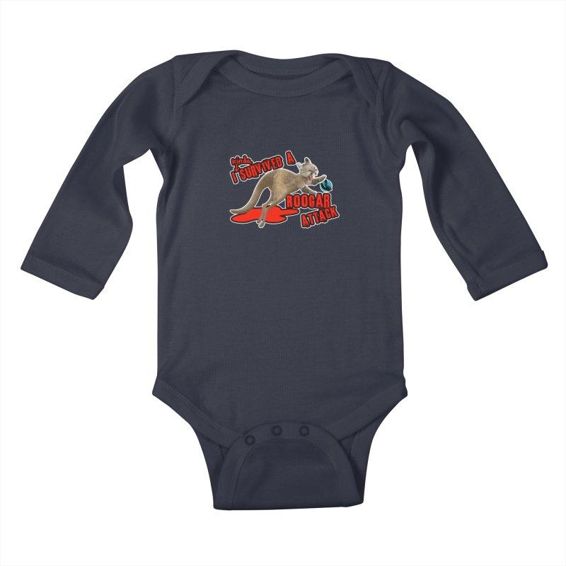 I Kinda Survived a Roogar Attack Kids Baby Longsleeve Bodysuit by iffopotamus