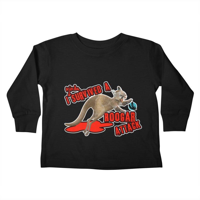 I Kinda Survived a Roogar Attack Kids Toddler Longsleeve T-Shirt by iffopotamus