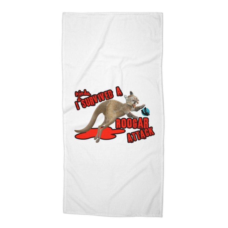 I Kinda Survived a Roogar Attack Accessories Beach Towel by iffopotamus