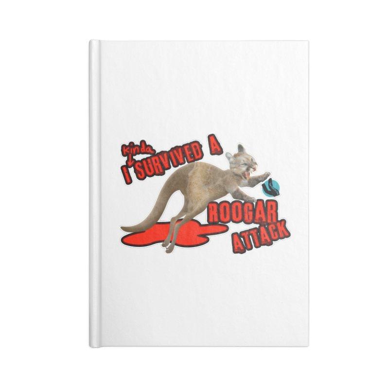 I Kinda Survived a Roogar Attack Accessories Notebook by iffopotamus