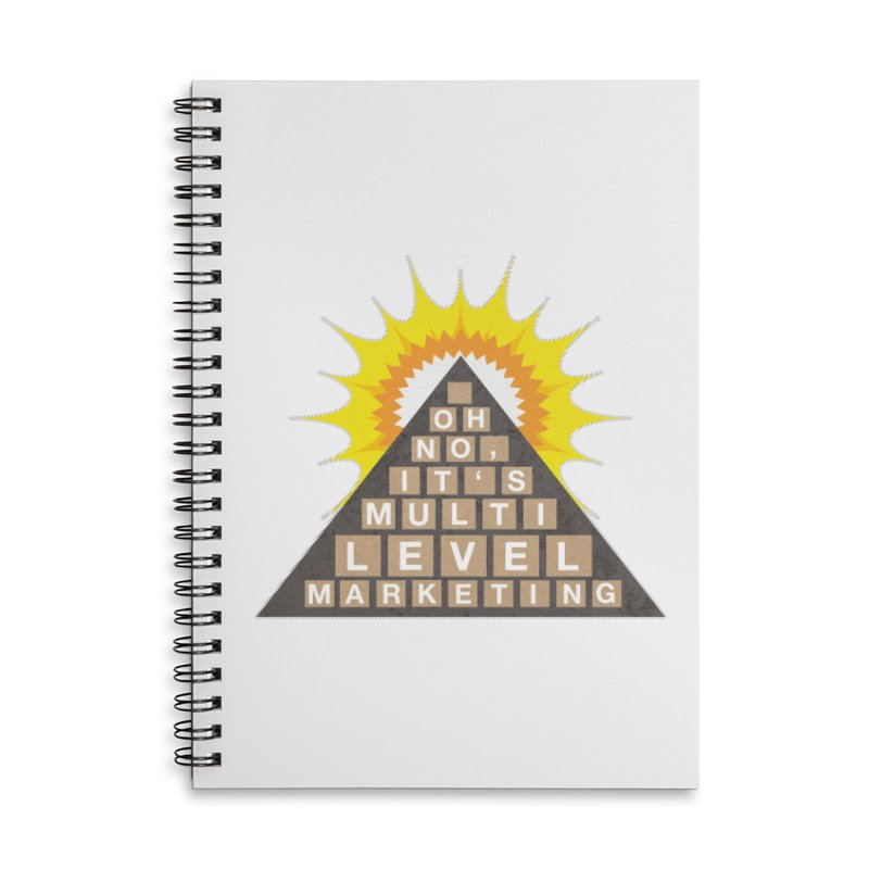 MLM Accessories Lined Spiral Notebook by iffopotamus