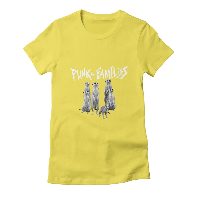 Punk For Families Women's Fitted T-Shirt by iffopotamus