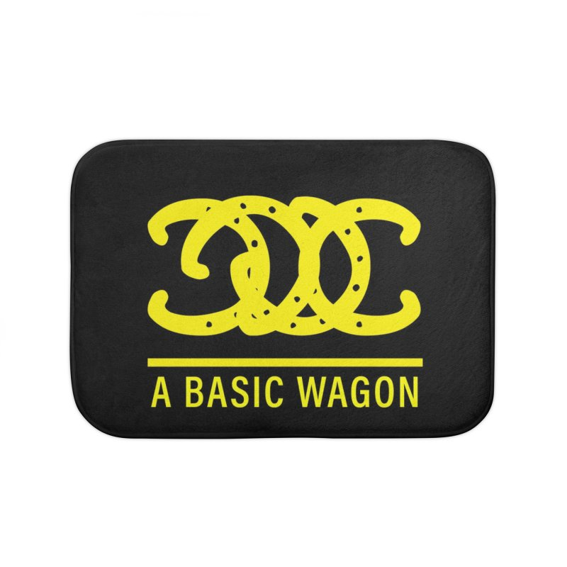 A Basic Wagon (Yellow Logo) Home Bath Mat by iffopotamus