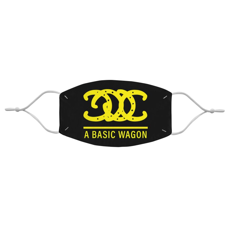 A Basic Wagon (Yellow Logo) Accessories Face Mask by iffopotamus