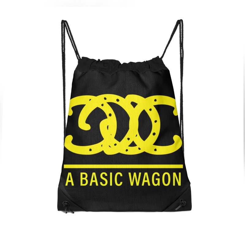 A Basic Wagon (Yellow Logo) Accessories Drawstring Bag Bag by iffopotamus