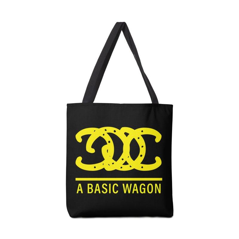 A Basic Wagon (Yellow Logo) Accessories Bag by iffopotamus