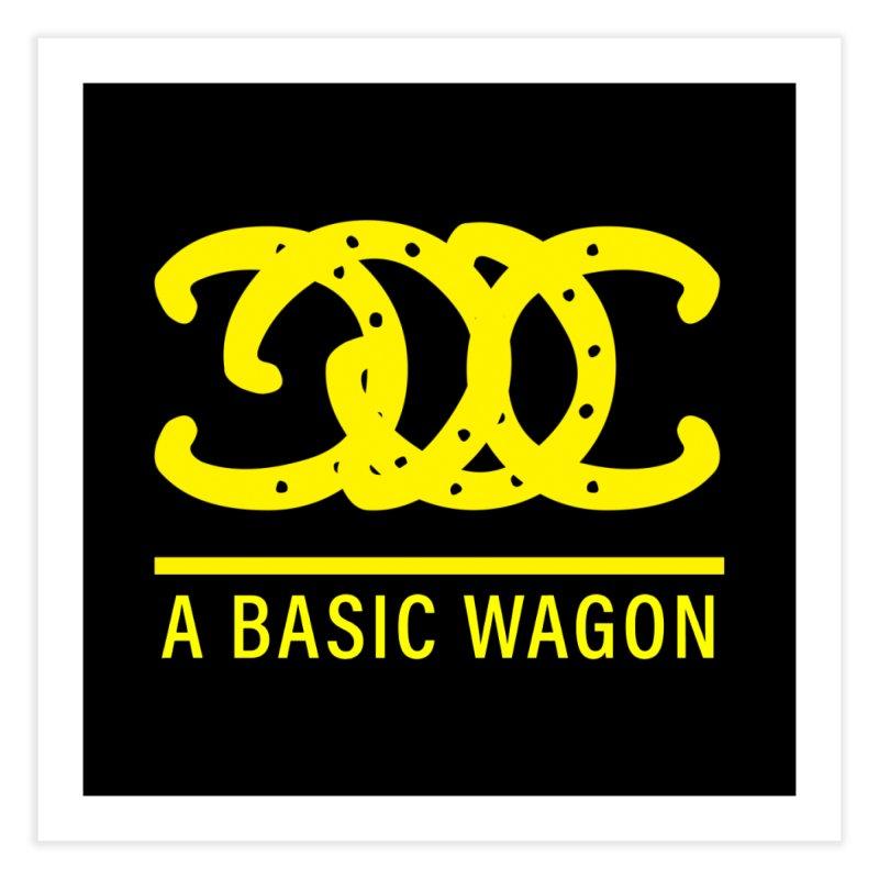 A Basic Wagon (Yellow Logo) Home Fine Art Print by iffopotamus