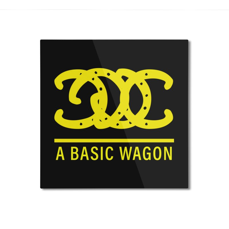 A Basic Wagon (Yellow Logo) Home Mounted Aluminum Print by iffopotamus