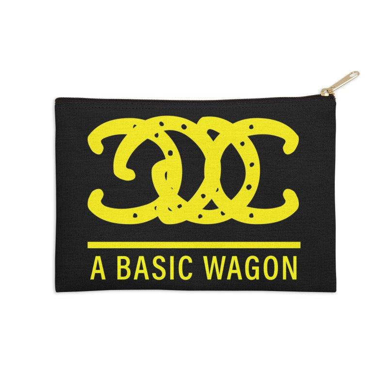 A Basic Wagon (Yellow Logo) Accessories Zip Pouch by iffopotamus