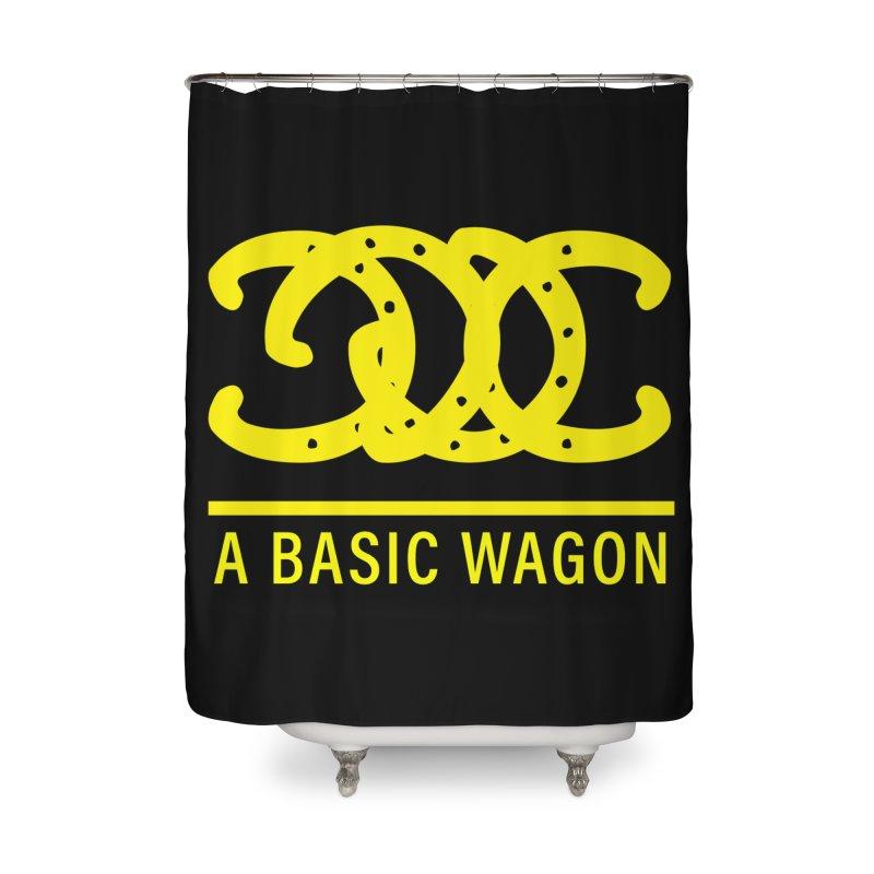 A Basic Wagon (Yellow Logo) Home Shower Curtain by iffopotamus