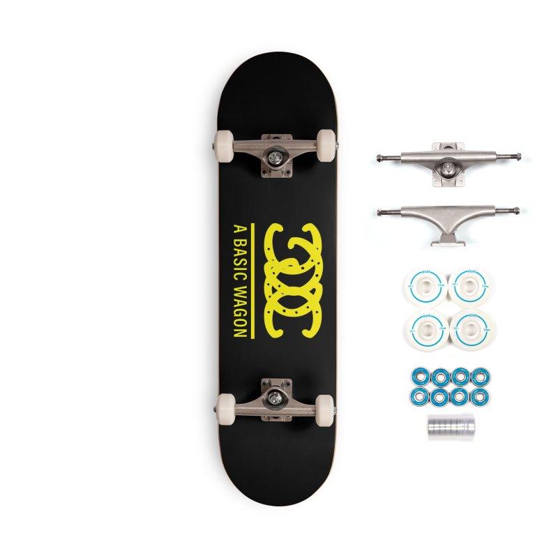 A Basic Wagon (Yellow Logo) Accessories Skateboard by iffopotamus