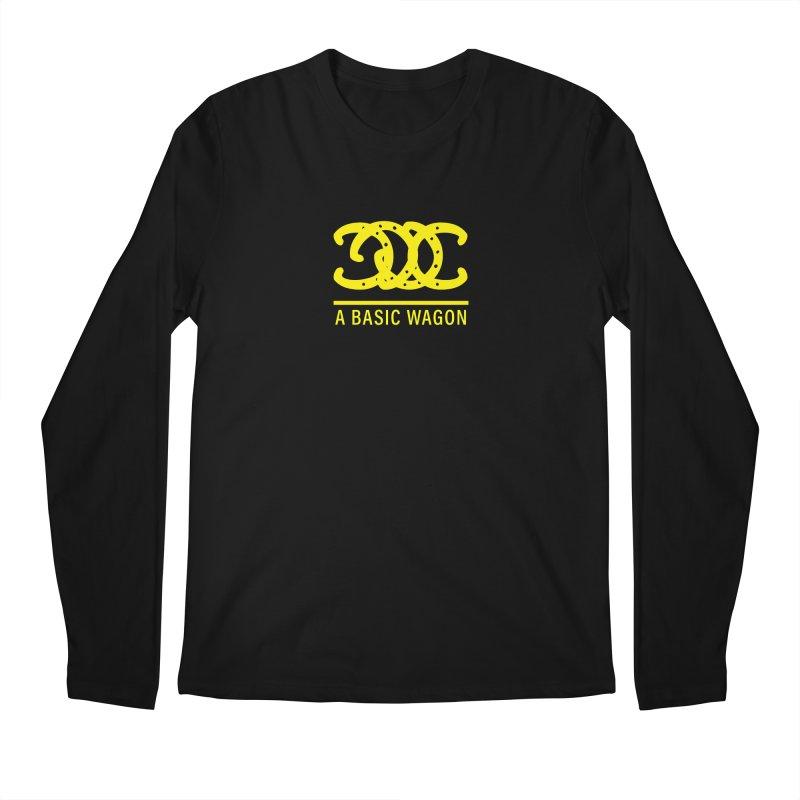 A Basic Wagon (Yellow Logo) Men's Regular Longsleeve T-Shirt by iffopotamus