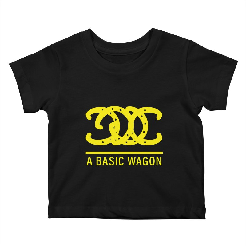 A Basic Wagon (Yellow Logo) Kids Baby T-Shirt by iffopotamus
