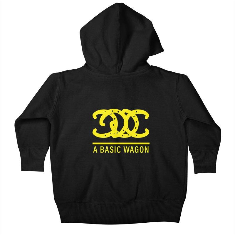 A Basic Wagon (Yellow Logo) Kids Baby Zip-Up Hoody by iffopotamus