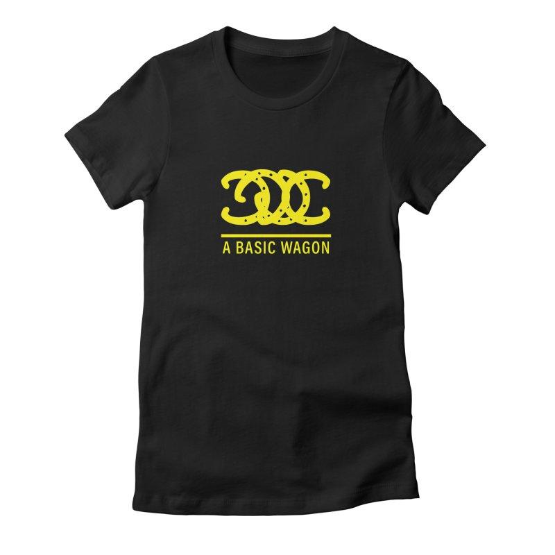A Basic Wagon (Yellow Logo) Women's Fitted T-Shirt by iffopotamus