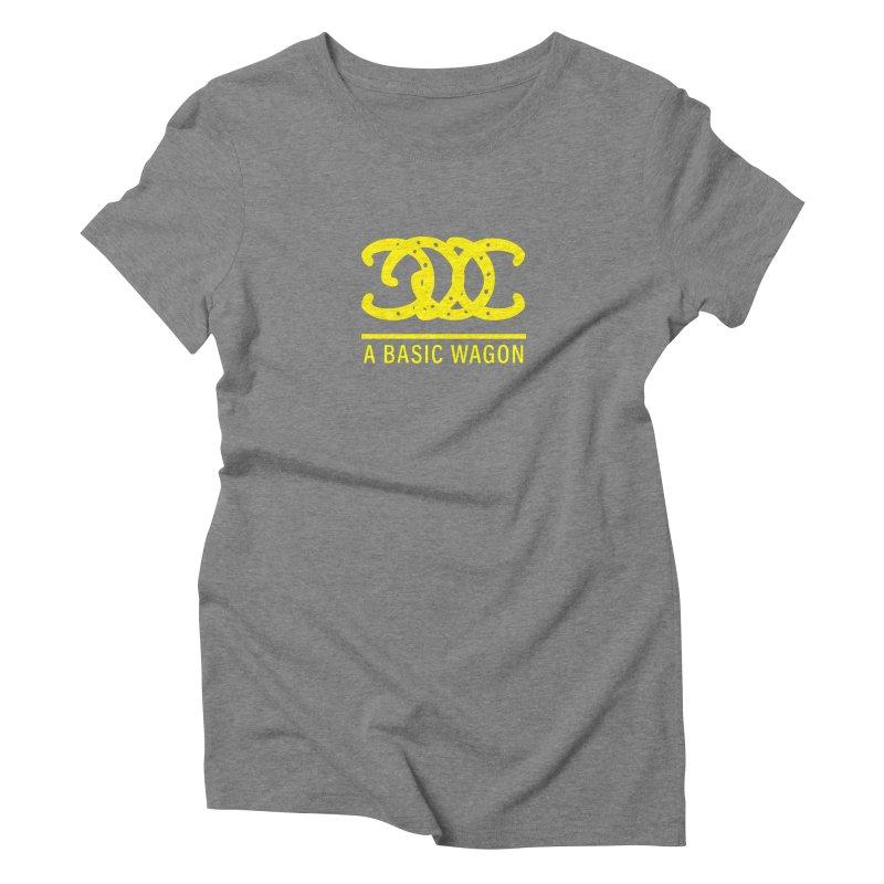 A Basic Wagon (Yellow Logo) Women's Triblend T-Shirt by iffopotamus