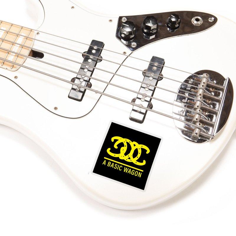A Basic Wagon (Yellow Logo) Accessories Sticker by iffopotamus