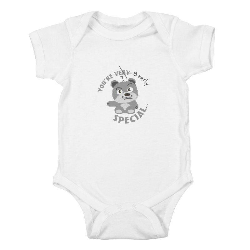 You're Bearly Special Kids Baby Bodysuit by iffopotamus