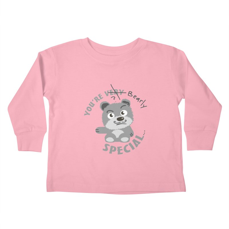 You're Bearly Special Kids Toddler Longsleeve T-Shirt by iffopotamus