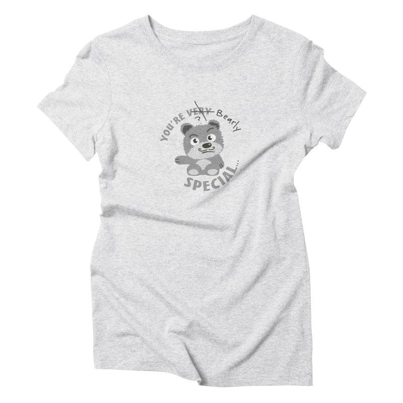 You're Bearly Special Women's Triblend T-Shirt by iffopotamus