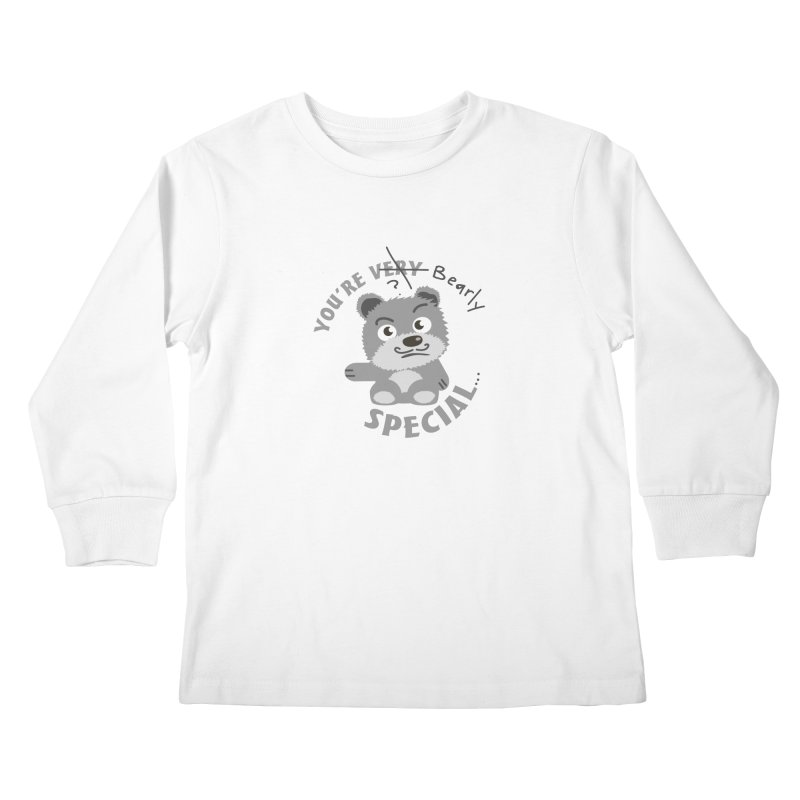 You're Bearly Special Kids Longsleeve T-Shirt by iffopotamus