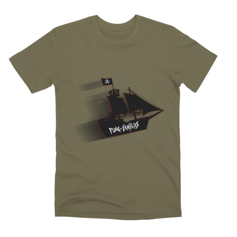 Punk for Families Pirate Ship Men's Premium T-Shirt by iffopotamus