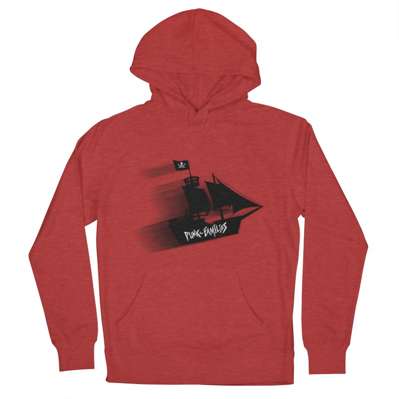 Punk for Families Pirate Ship Men's French Terry Pullover Hoody by iffopotamus