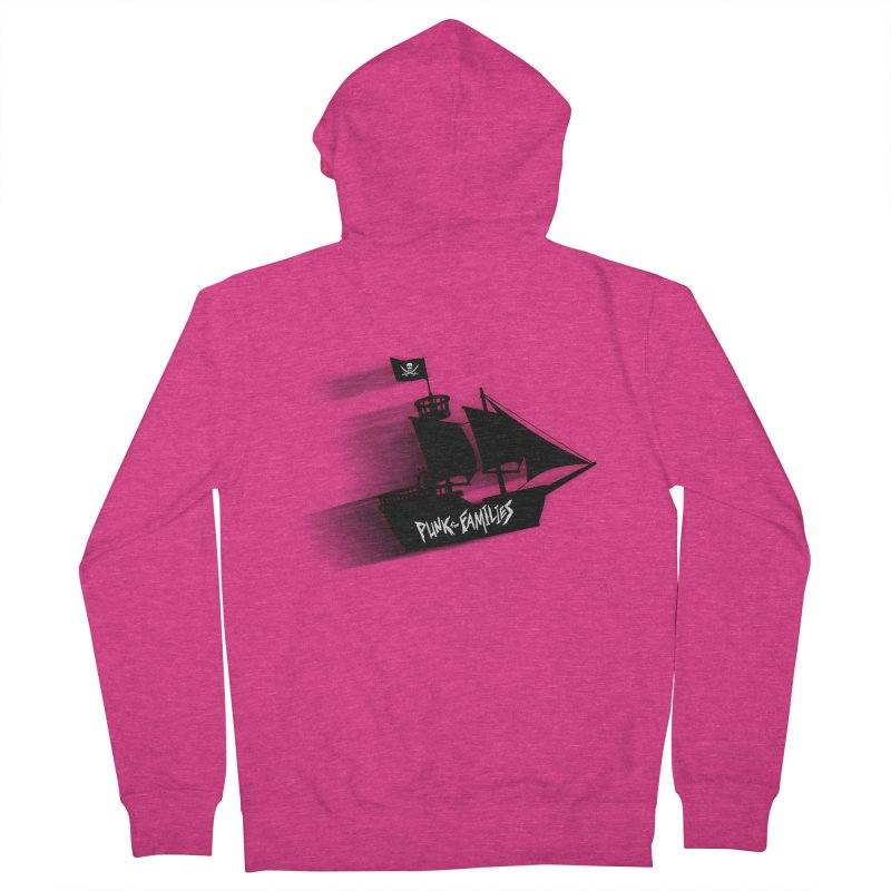 Punk for Families Pirate Ship Women's French Terry Zip-Up Hoody by iffopotamus