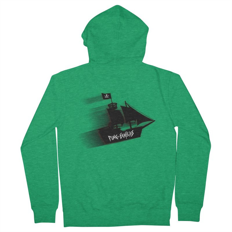 Punk for Families Pirate Ship Men's French Terry Zip-Up Hoody by iffopotamus