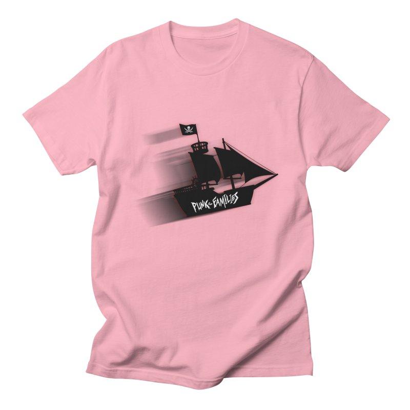 Punk for Families Pirate Ship Men's Regular T-Shirt by iffopotamus