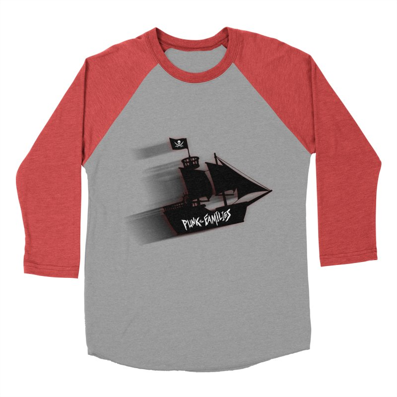 Punk for Families Pirate Ship Men's Baseball Triblend Longsleeve T-Shirt by iffopotamus