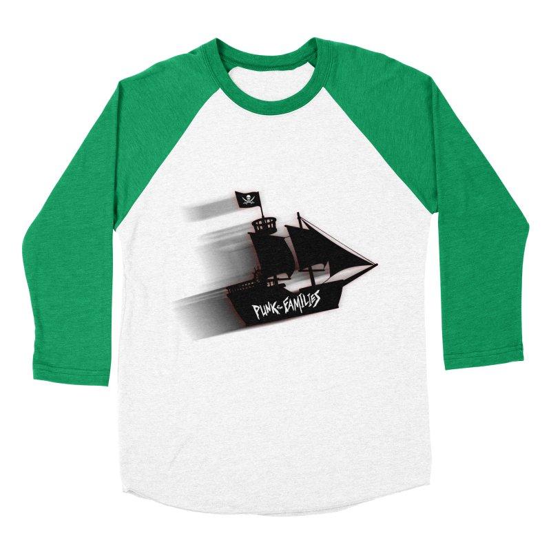 Punk for Families Pirate Ship Men's Baseball Triblend Longsleeve T-Shirt by iffopotamus