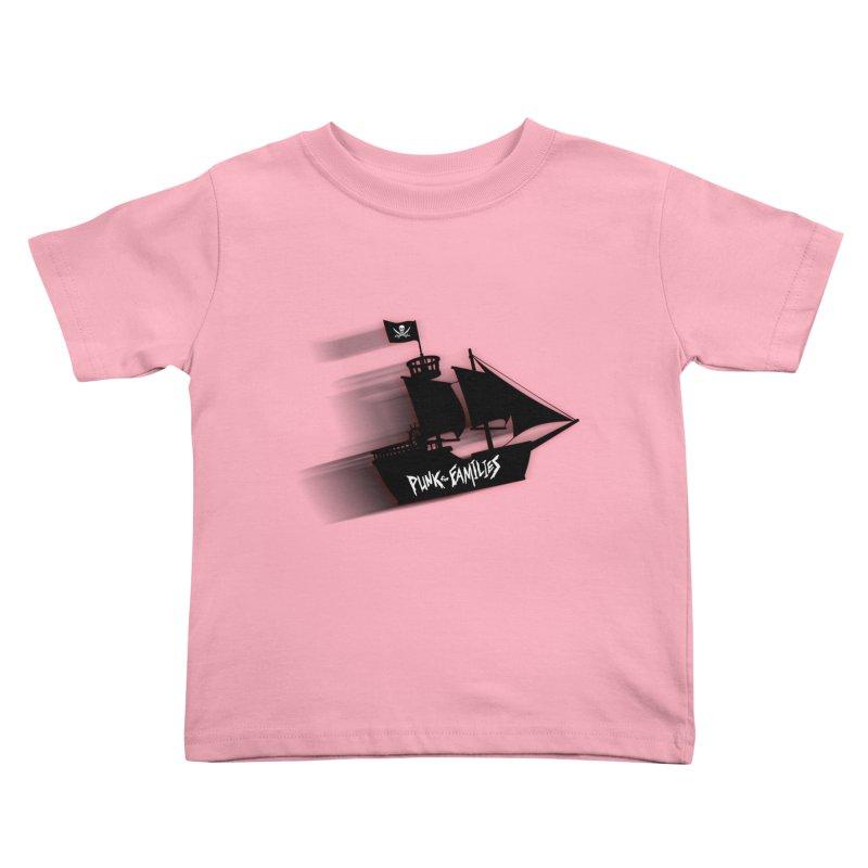 Punk for Families Pirate Ship Kids Toddler T-Shirt by iffopotamus