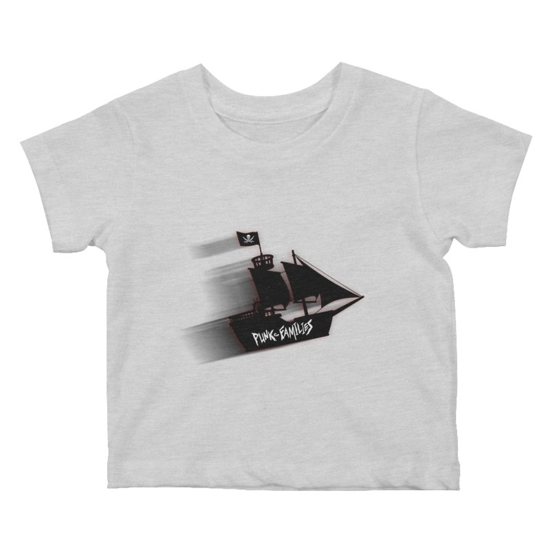 Punk for Families Pirate Ship Kids Baby T-Shirt by iffopotamus