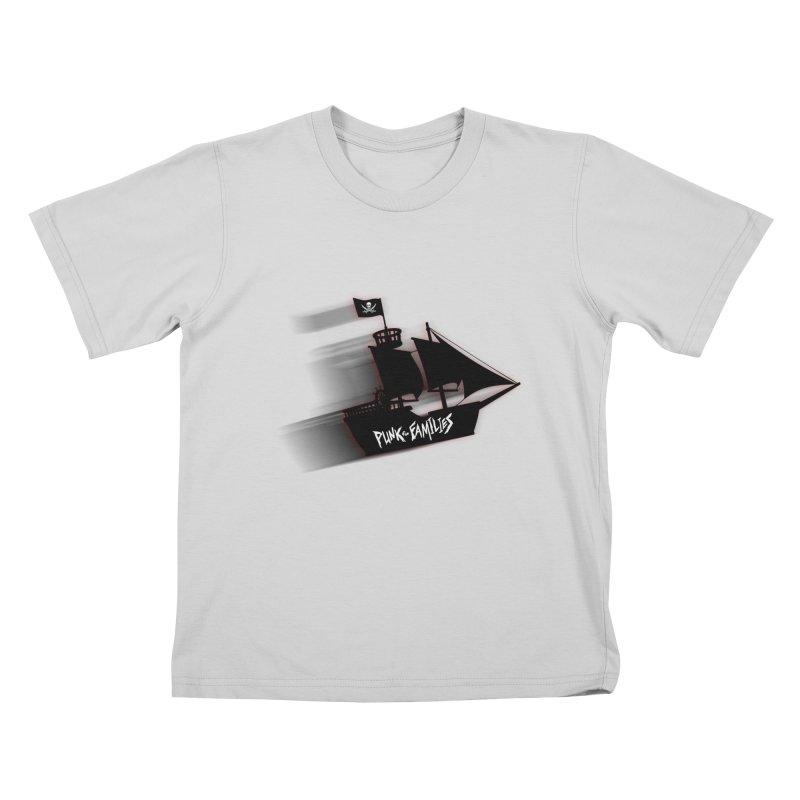 Punk for Families Pirate Ship Kids T-Shirt by iffopotamus