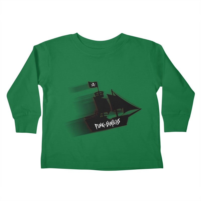 Punk for Families Pirate Ship Kids Toddler Longsleeve T-Shirt by iffopotamus