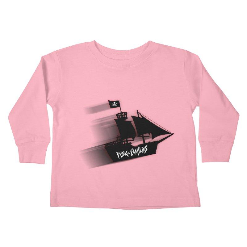 Punk for Families Pirate Ship Kids Toddler Longsleeve T-Shirt by iffopotamus