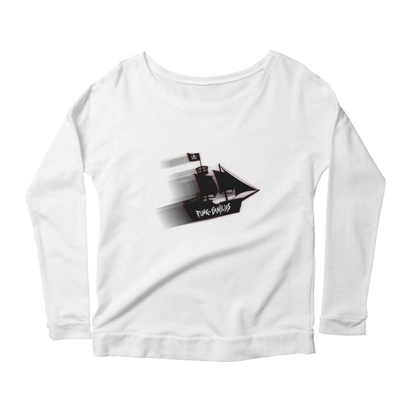 Punk for Families Pirate Ship Women's Scoop Neck Longsleeve T-Shirt by iffopotamus