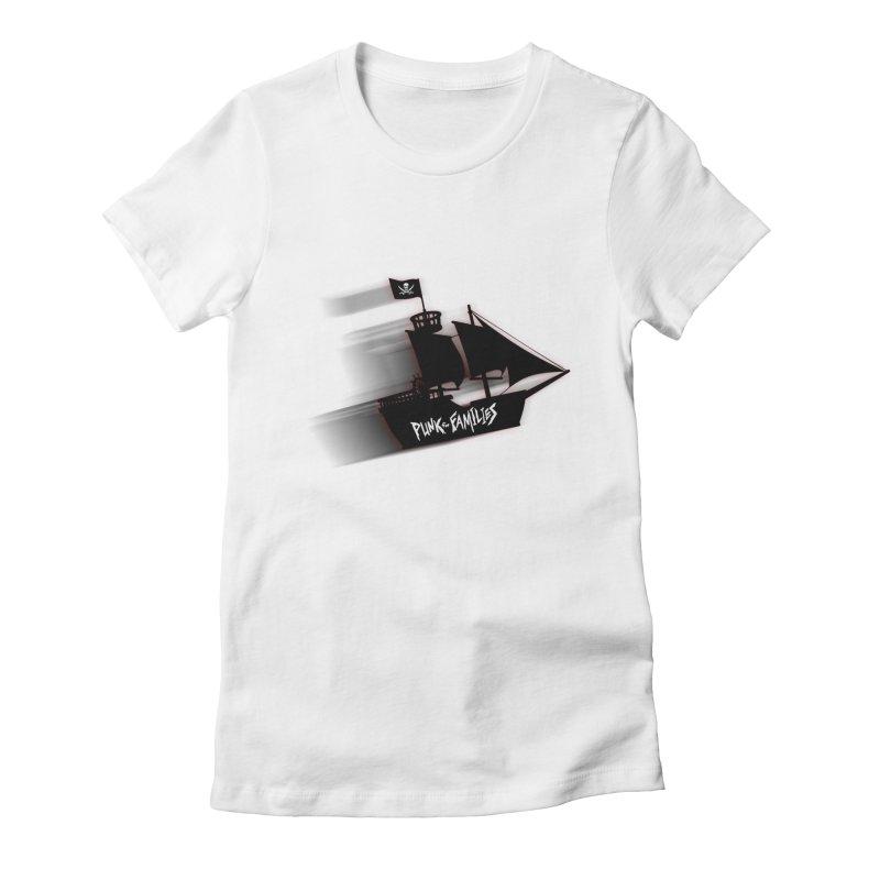 Punk for Families Pirate Ship Women's Fitted T-Shirt by iffopotamus