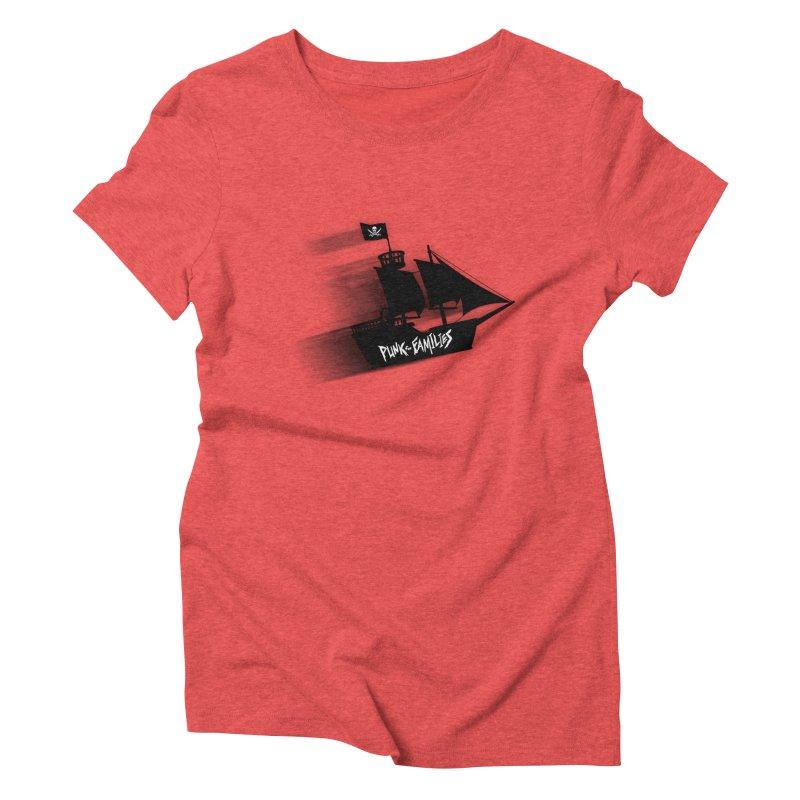 Punk for Families Pirate Ship Women's Triblend T-Shirt by iffopotamus