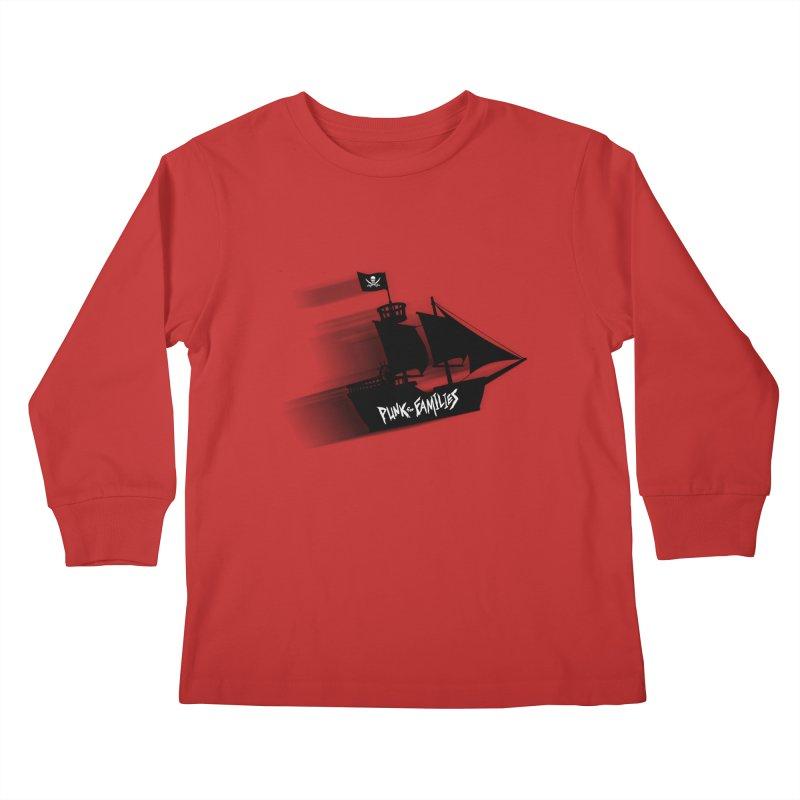 Punk for Families Pirate Ship Kids Longsleeve T-Shirt by iffopotamus
