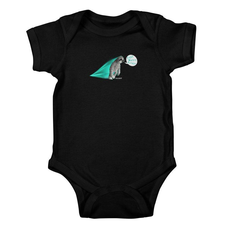 Fast Music Please Kids Baby Bodysuit by iffopotamus