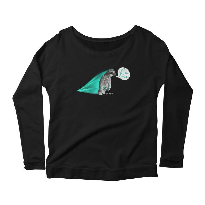Fast Music Please Women's Scoop Neck Longsleeve T-Shirt by iffopotamus