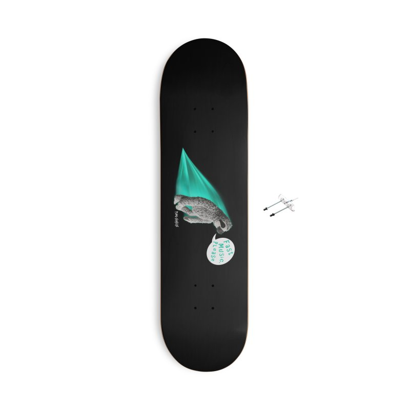 Fast Music Please Accessories With Hanging Hardware Skateboard by iffopotamus