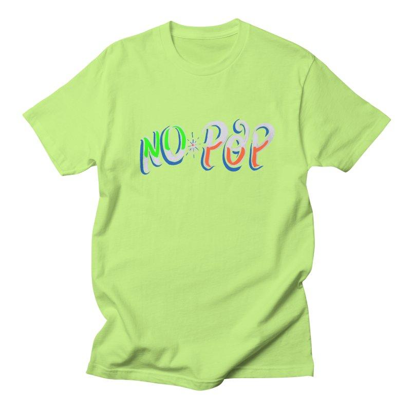 No Pop in Men's Regular T-Shirt Neon Green by Iggie No Pop's Artist Shop